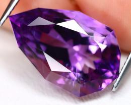 Uruguay Amethyst 11.92Ct VVS Pear Cut Natural Violet Amethyst AB4250