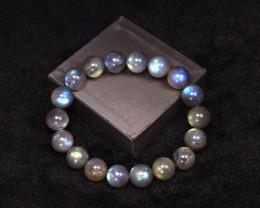 213.00Ct Natural Labradorite Beads Bracelet ER412/E34