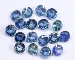 6tcw Natural Blue 4.1mm Round Ceylon Sapphire Parcel