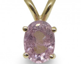 Pink Sapphire Pendant set in 14kt Yellow Gold