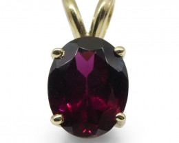 Rhodolite Garnet Pendant set in 14kt Yellow Gold