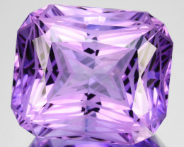 ~CUSTOM CUT~ 20.78 Cts Natural Purple Amethyst Round Bolivia