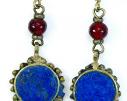 NR!!!! 48.30 Cts Natural - Unheated Blue Lapis Earrings
