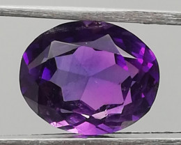 Amethyst, 3.31ct, awesome colour very well cut!!