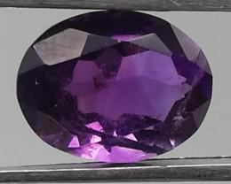Amethyst, 3ct, dark purple colour very well cut!