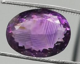 Amethyst, 9.81ct, not the perfect symmetry but a very sympathetic gem!!