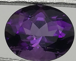 Amethyst, 3.48ct, beautiful perfect purple-blueish gem!