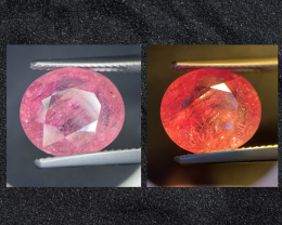 UNHEATED 5.46ct Color Change Orangy Pink Sapphire