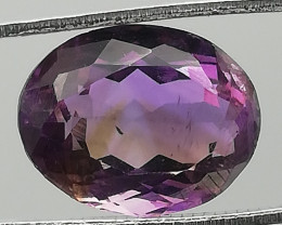 Amethyst, 7.2ct, a stone with personality! You can see how it grew up!