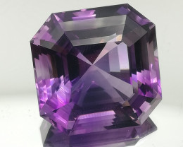 Amethyst, 52.38ct, huge gem, clean and perfect cut!!!