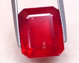 11.38ct Blood Red Color Ruby Octagon Cut Lot V8311