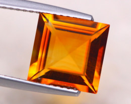 2.75ct Natural Yellow Citrine Square Cut Lot D449