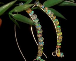 Natural Ethiopian Welo Faceted Opal Earrings 71