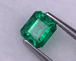 AAA Quality Afghanistan Panjshir Emerald Vivid Green Natural Color 0.54 Ct