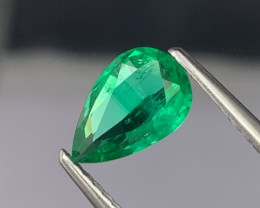 Afghanistan Panjshir Top Quality Vivid Green Natural Color 0.76 Cts