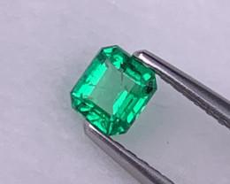 Afghanistan Panjshir Emerald Vivid Green Top Grade 0.38 Cts