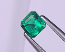 Afghanistan Panjshir Vivid Green AAA Grade  Emerald 0.36 Cts