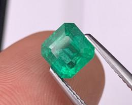 1.27 Cts Afghanistan Panjshir Top Grade Vivid Green Emerald