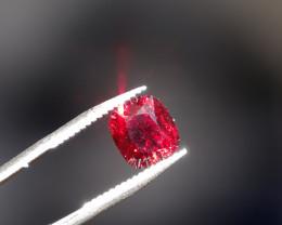 Spinel -  Red - 1.26ct Cert !!!  - VVS  -