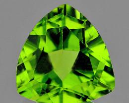 7.00 mm Trillion 1.07cts Green Peridot [VVS]