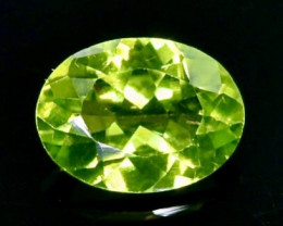 1.15 Crt Natural Peridot Faceted Gemstone.( AB 50)