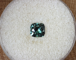 1,78ct Teal to grass green colour change Sapphire - Master cut