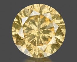 Diamond 0.16 Cts Sparkling Rare Fancy Yellow Color Natural