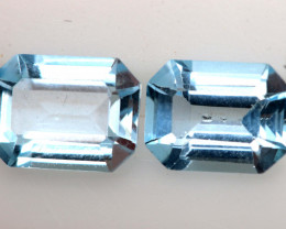 3.40 CTS BLUE TOPAZ  PAIR  PG-3493