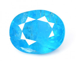 3.12 Cts Un Heated Natural Neon Blue Apatite Loose Gemstone