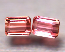 Tourmaline 2.50Ct 2Pcs Natural Pink Tourmaline ES0511/B48