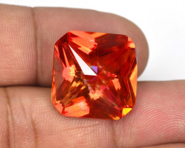*NoReserve*22.43 Cts Rare Fancy Orange Red Color Natural Mystic Topaz