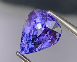 3.22 Cts Fine Quality Top Color Natural Tanzanite Very Very Clean