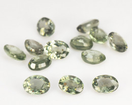 3.08 Cts 13 Pcs Amazing Rare Natural Fancy Green  Sapphire Loose Gemstone