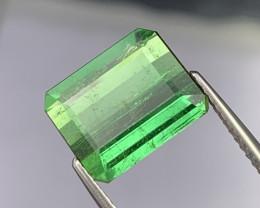5.69 Cts Beautiful Malachite Green Natural Tourmaline Good Luster