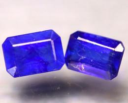 Ceylon Sapphire 2.92Ct 2Pcs Royal Blue Sapphire EF0508/A23