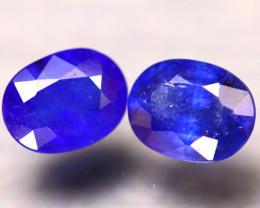 Ceylon Sapphire 3.67Ct 2Pcs Royal Blue Sapphire EF0509/A23
