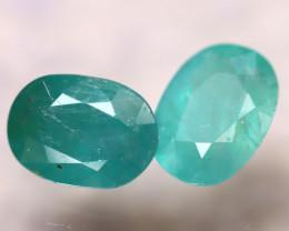 Grandidierite 2.23Ct 2Pcs Natural World Rare Gemstone EF0515/B11