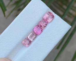5.10 Ct Natural Pink Transparent Tourmaline Gemstones Parcels