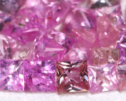 Pink Sapphire 2.59Ct Princess 2.0mm Natural Pink Sapphire Lot B4455