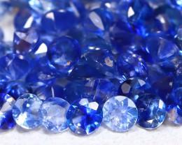 Blue Sapphire 2.60Ct Calibrate 1.7mm Natural Blue Sapphire Lot B4462