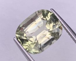 4.78 Cts Custom Cut Pastel Yellow Fine Quality Natural Tourmaline