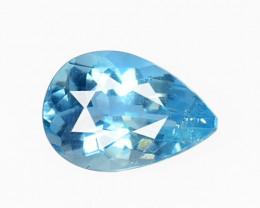 0.50 Cts Un Heated Blue Natural Aquamarine Loose Gemstone