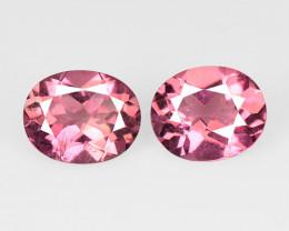 Tourmaline 1.32 Cts 2 pcs  Natural Pink Tourmaline Gemstone