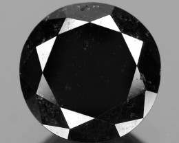 0.91 Cts 6.02x3.67 mm Fancy Black Color Natural Loose Diamond