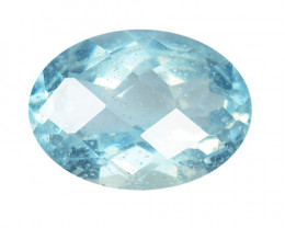 2.16 Cts Un Heated  Santa Maria Blue  Natural Aquamarine Loose Gemstone