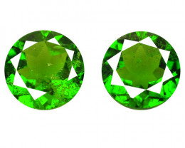 *NoReserve*Chrome Diopside 2.55 Cts 2Pcs Natural Green Gemstone