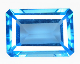 *NoReserve*Topaz  19.05 Cts Swiss Blue Natural Gemstone