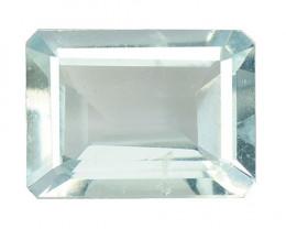 1.28 Cts Un Heated  Santa Maria Blue  Natural Aquamarine Loose Gemstone