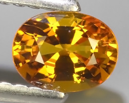 ~AWESOME NICE ORANGEISH-YELLOW SAPPHIRE FACET GENUINE~