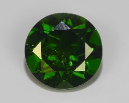 1.20 CTS NATURAL UNHEATED  GREEN CHROME DIOPSIDE ROUND EXCELLENT~